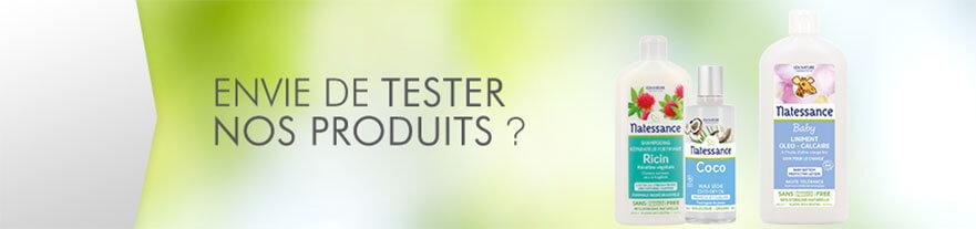 Testez les produits d'hygiène et cosmétiques Natessance