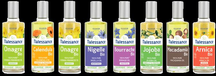 Les huiles végétales bio de Natessance®e