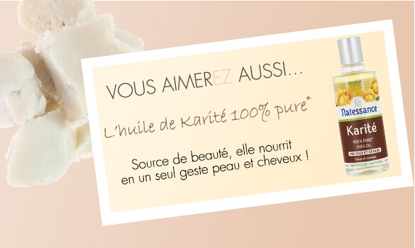 Huile pure de Karité pour hydrater, assouplir et renforcer la peau du corps et du visage ainsi que les cheveux.