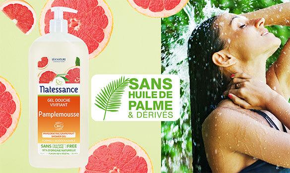 La douche sans huile de palme avec Natessance®