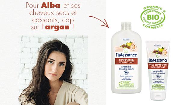 shampooing et après-shampooing argan natessance