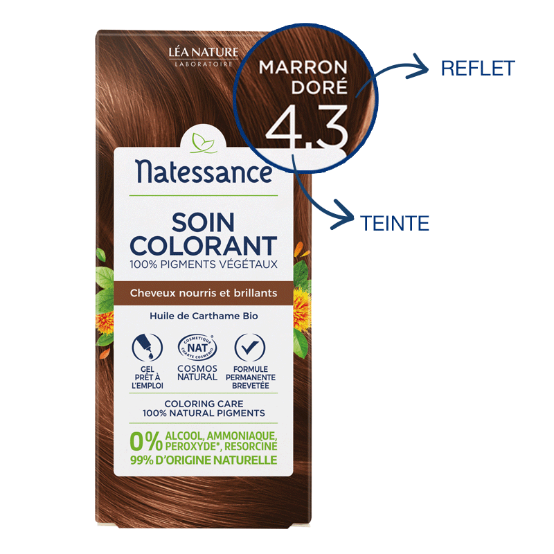 Soin colorant Marron doré 4.3_image